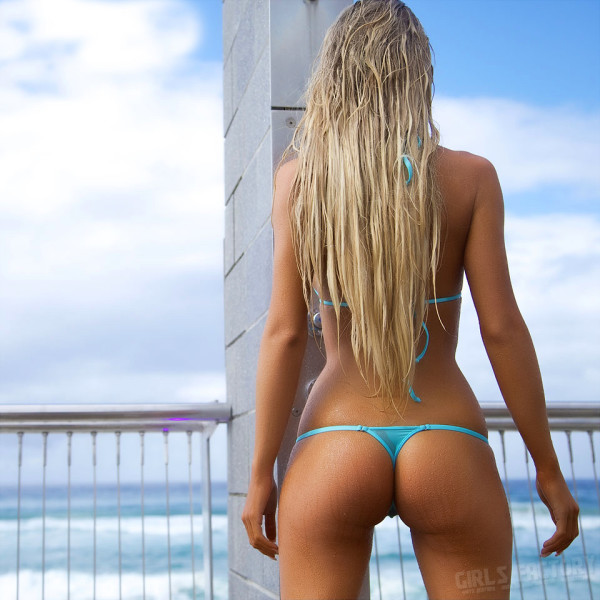 blonde in a panties with instagram-37