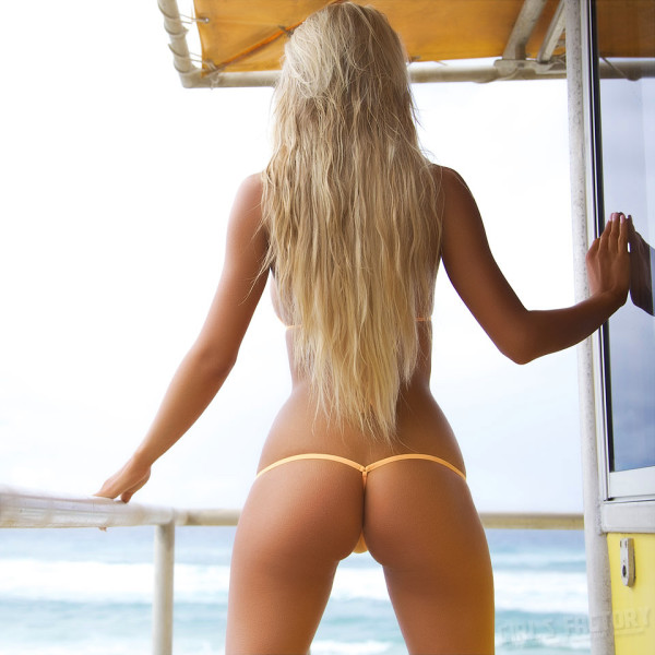 blonde in a panties with instagram-45