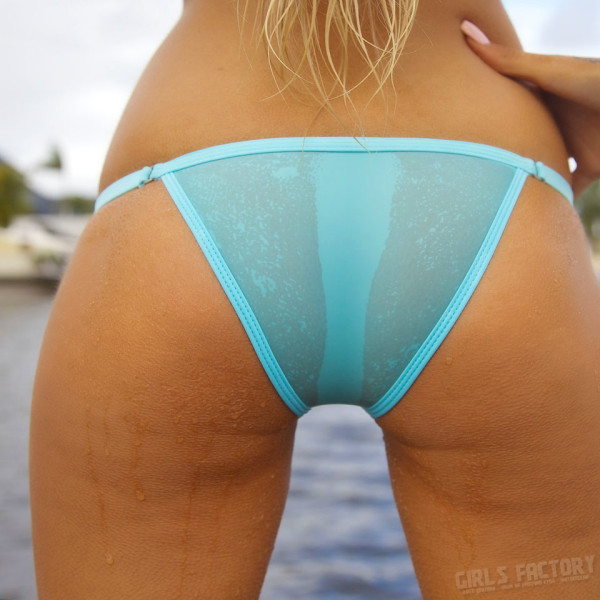 blonde in a panties with instagram-70