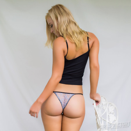 blonde in a panties with instagram-81